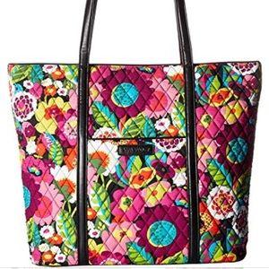 Vera Bradley NWT Large Trimmed Tote Bag VaVa Bloom
